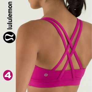 Lululemon Energy Bra Raspberry
